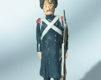 Figurine of french soldier- Napoleonic Wars 1804-1815- Miniature Art History Figurine Doll Сollection