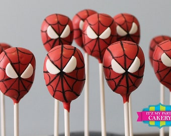 Spiderman Head Cake Pops (1 Dozen)