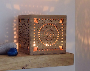 Moroccan Lantern, Moroccan Candle Holder, Boho Candle Lantern, Wooden Tea Light Holder, Anniversary Present, Wedding Gift, Personalised Gift