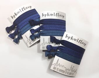 Navy Ombre Ponytail Holders - Hair Ties - Hair Elastics - Womens Hair Accessories - Hair Bands for Women - Navy Hair Ties - Elastic Hair Tie