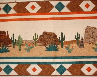 Desert Scene of Tranquility Bed Runner