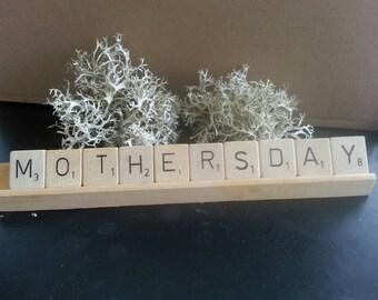 Wooden initials / letters Scabble tiles
