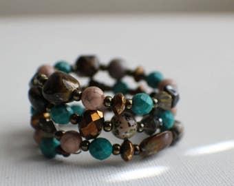Amelia- Coil Bracelet