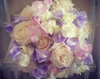 Artificial wedding flowers. Brides bouquet. Bridesmaid flowers. Customised to meet your needs
