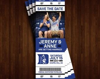 Duke University, Duke Blue Devils Save the Date Ticket