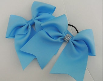 Light Blue Softball Bow/ Softball bows/ Light Blue Cheer Bow/ Cheer Bows/ light blue Soccer Bow/ Soccer Bows