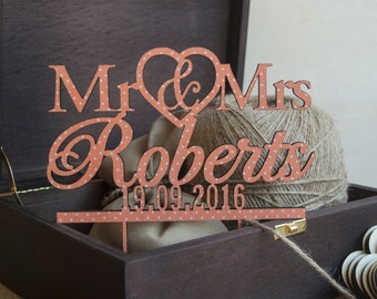 Coral Wedding cake topper | rustic wood cake topper | Rustic cake topper | Rustic cake topper |Coral Wedding | Anniversary