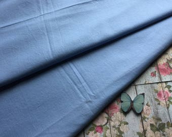 Vintage Fabric - Solid Blue Cotton - Almost 2 Yards