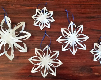 Finnish Star Ornaments, Woven Paper Ornaments, Star Ornament, Holiday Decor