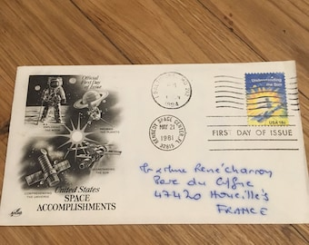 First Day Cover - USA Space Stamps