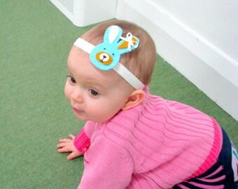 Rabbit headband, Bunny headband, Baby headband, felt hair headband, Toddler headband, baby Hair accessory