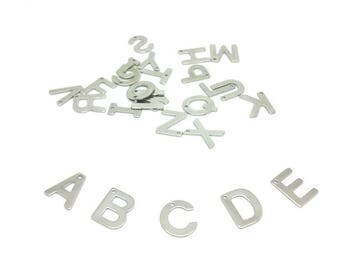 26 letters Alphabet stainless steel charms