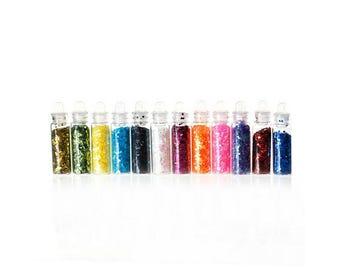 12 mini jars of glitter paste 40mm rounds