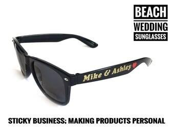 Zonnebrillen op maat, vrijgezellenfeest cadeautjes, zonnebril met naam, festival bril, bruiloft brillen, bruiloft zonnebril, bruiloftbrillen