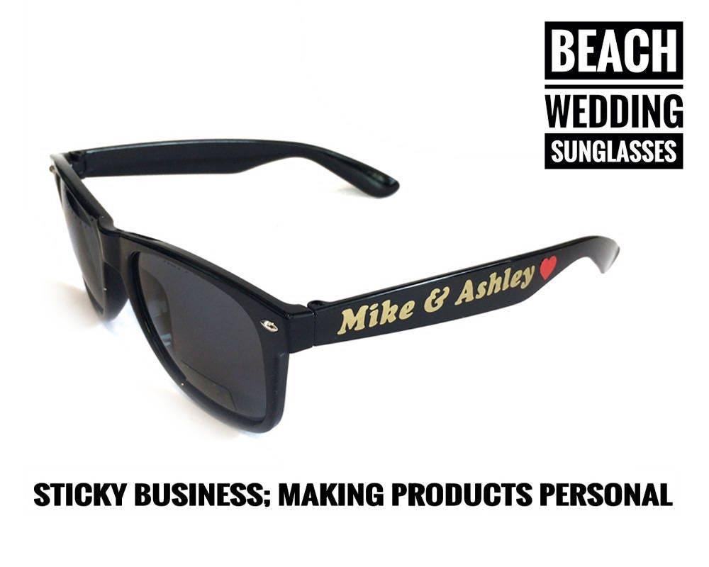 Beach wedding sunglasses, bachelorette sunglasses, personalized ...
