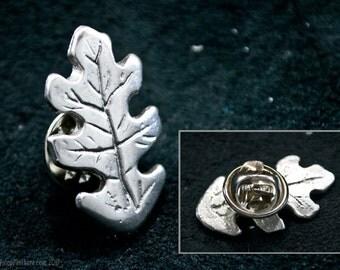 Oak Leaf Pin- oak leaf brooch, oak tree, oak jewelry, tree jewelry, tree pin, arbor day, oak pin, forest pin, forest jewelry, nature