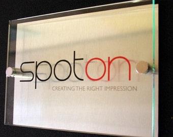 Custom Acrylic Business Plaque | Door,Reception,Office Sign
