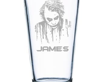 Joker Personalized Pint Glass- Custom Pint Glass