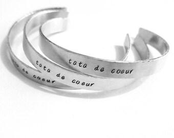 Adults personalised bangle bracelet