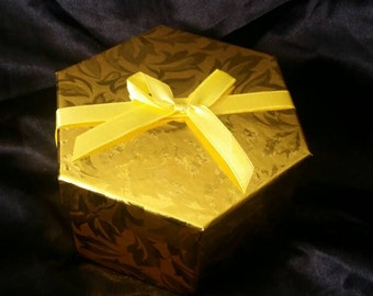 Ornament Gift Box, Ornament Exchange Gift Box, FREE Shipping WITH Ornament Purchase -Gold