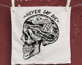 skull Cushion Cover,  Decorative Pillow, goonies pillow, punk pillow, home decor, vintage cushion cover, pillow cover, skull decor