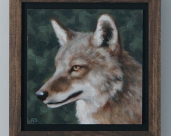 Coyote / Original Oil Painting / Sarah Becktel