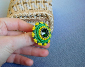 Beadwork ring