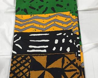 Authentic African Fabric/africanClothing/Fabric/symbol print Rasta Kuba Fabric Sold by Yard