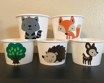 Woodland Party Snack Cups