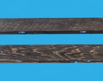 """30 inch recycled wood floating shelf 4"""" deep and 2"""" thick, colonial pine stain-528-30"""