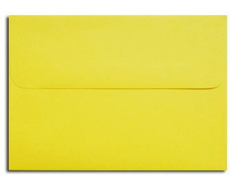 20 Bright Yellow Envelopes in A7, A6, A2 & A1 Response Sizes