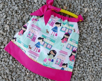 Pillowcase Dress Pattern 1 - 6 years with Ribbon, INSTANT DOWNLOAD : Girls Dress Pattern, Easy Sewing Patterns, Toddler Pillowcase