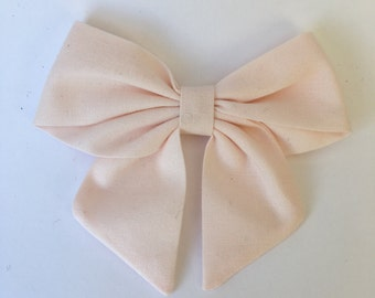 Blush pink sailor bow