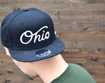 ohio hat - ohio state hat -snap back hat - ohio state - gameday hat - baseball cap - state of ohio - buckeye hat - buckeye gear - flat bill