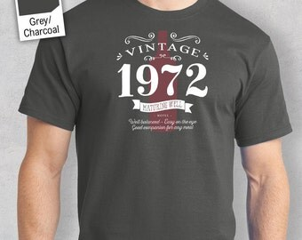 45th Birthday, 45th Birthday Gift, 45th Birthday Present. 45th Birthday Idea for 1972 Birthday, 45th, Birthday Shirt, 45 Birthday!