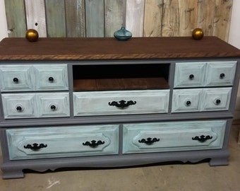 shabby chic tv stand etsy. Black Bedroom Furniture Sets. Home Design Ideas
