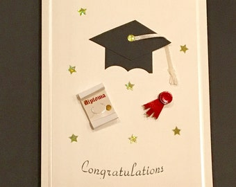 Handmade Graduation day card with envelope cute 3D  card