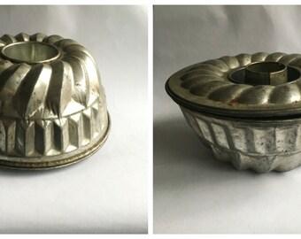 Vintage turban tin with inner piece or cake tin