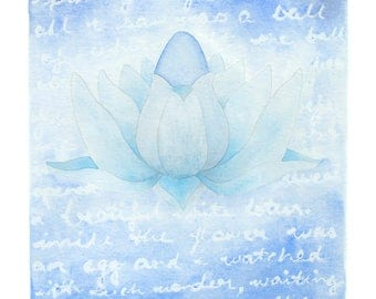 Eco-Friendly Lotus and Egg Print 'Closed' - A4
