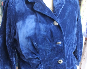 blue velvet jacket by Fuevesco REF 473