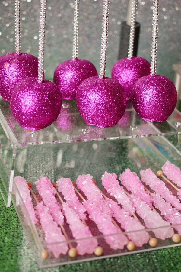 Decorating Cake Pops With Glitter : Hot Pink Disco Glitter 5 grams cake decorating gum paste ...
