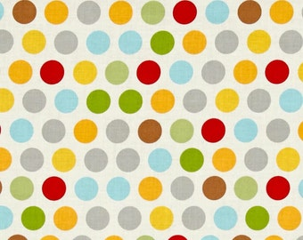 Riley Blake Rover Polka Dots on Cream 1yd