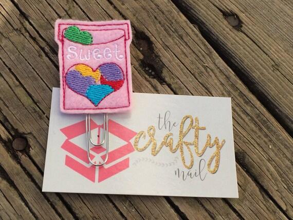 Valentine Candy Clip/Planner Clip/Bookmark. Valentine's Sweetheart Valentine's planner clips
