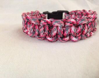 Pink Camo 550 Paracord Bracelet