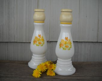 Avon Buttercup Pair of Milkglass Candleholders Easter/Mother's Day/Birthday/Housewarming