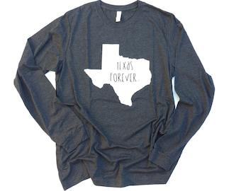 Adult long sleeve Texas forever tee