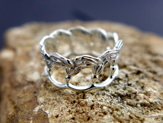 Kelp Ring-Marine Biology-Science Jewelry-Ocean Ring