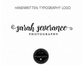 signature logo photography logo photographer logo typography logo text logo premade logo handwritten logo calligraphy logo watermark logo