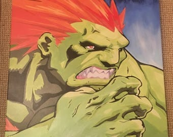 PRINT of Blanka from Street Fighter 60cm box canvas