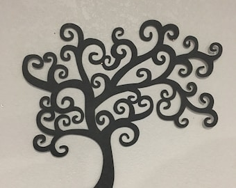 Metal  Tree  - Metal Tree -  Swirling Tree - Home Decor  - Wall Hanging